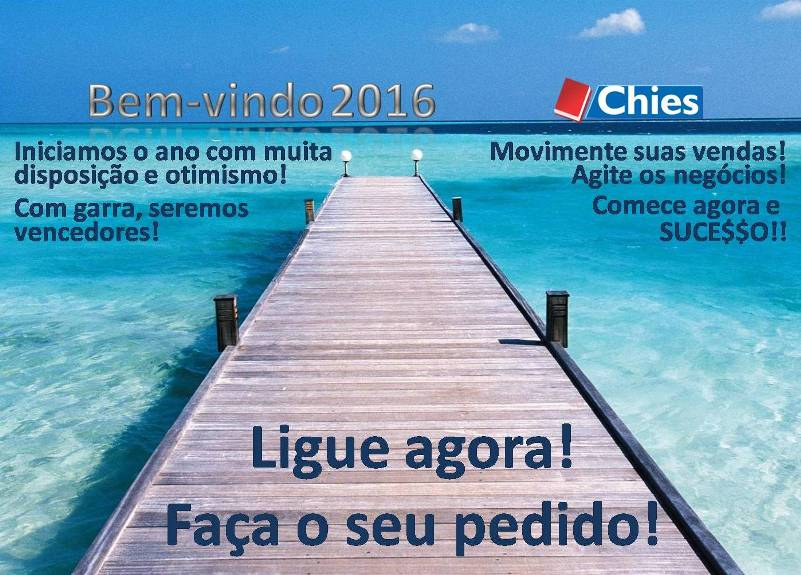 Bem-vindo 2016 Chies!
